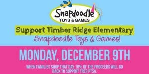 Holiday Shop for TRES PTSA at Snapdoodle Toys & Games ! @ Snapdoodle Toys & Games